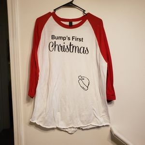 Christmas maternity top size XL